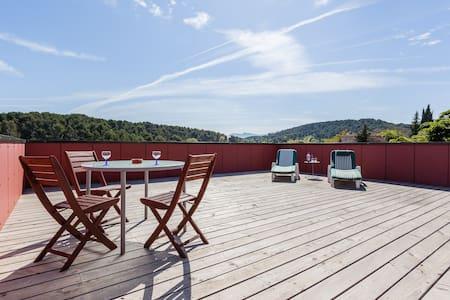 Architecture bois vue panoramique. - Cabriès - Jordhytte
