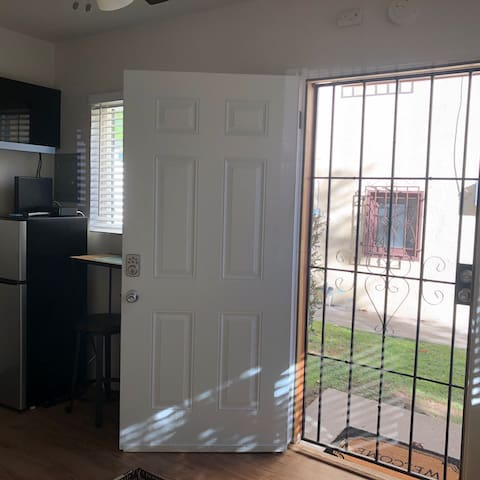 New front door with electronic lock