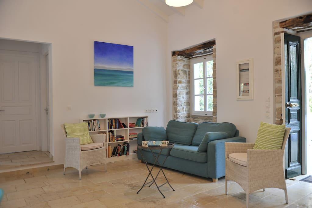 Sitting area in Villa Adriana