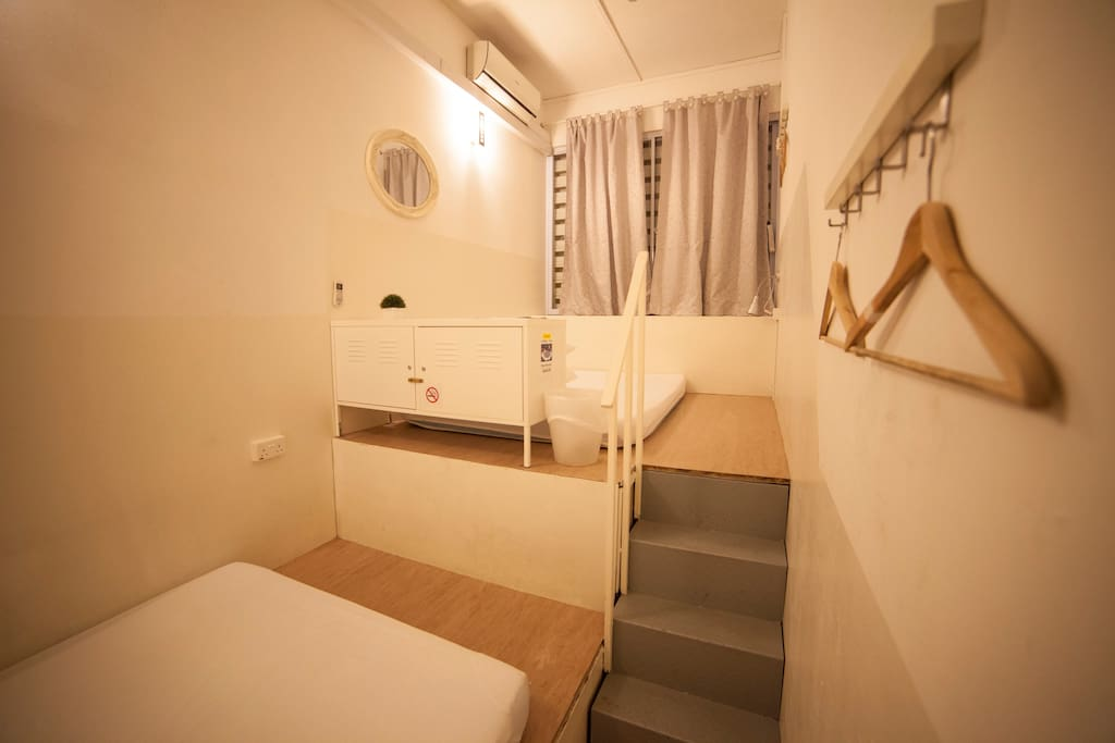 2 x double beds Private Room Like Alcove