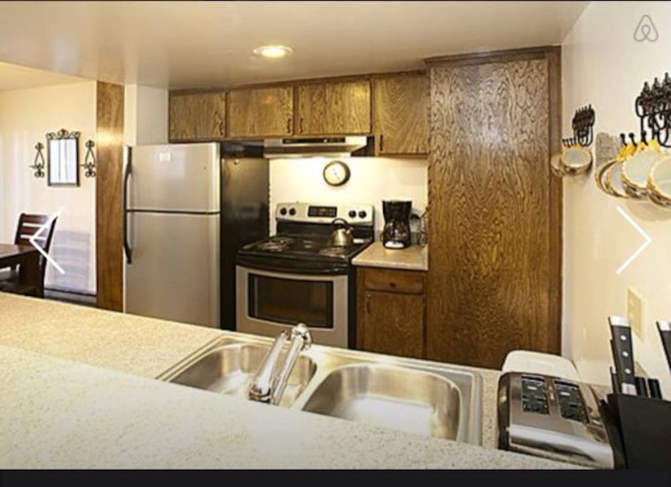 Remodeled kitchen with all appliances in unit