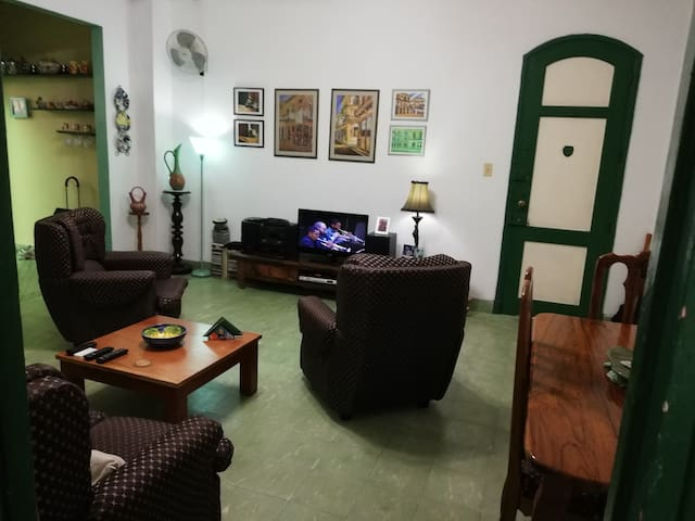 Rebeca's place on the best corner of Vedado.
