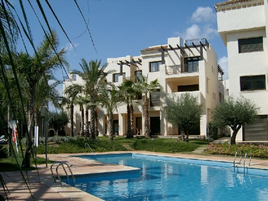 1st floor apartment with views to the pool and gardens