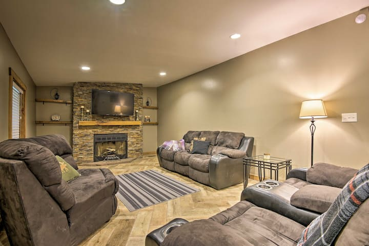 Spacious Kunkletown Home w/ Full Game Room & Deck!