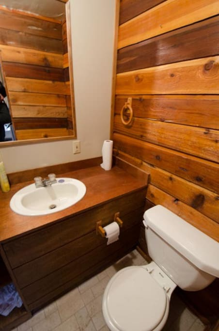 View of the bathroom.
