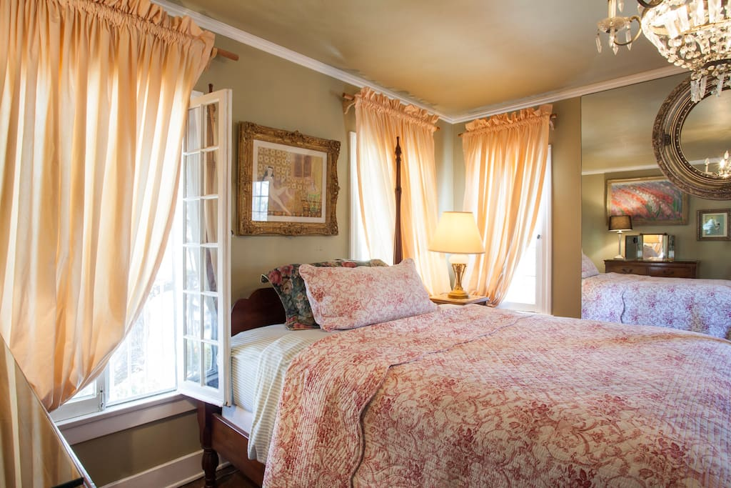 Large airy bedroom with a large walk in closet included
