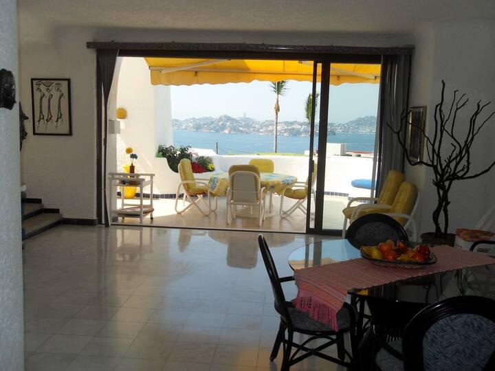 Casa en renta en Marina Brisas Acapulco con vista
