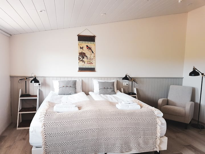 Grásteinn guesthouse, Fjósið