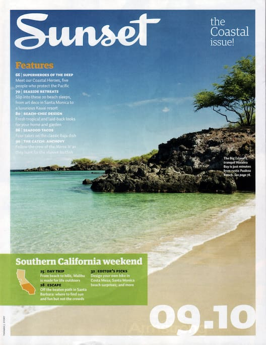 Yes, our beach was featured in Sunset magazine!