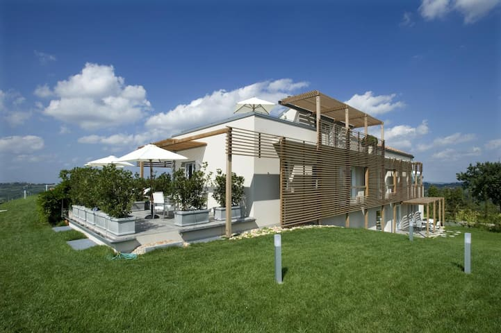 House in the Vineyard - Apt San Bovo - Castiglione Tinella - Apartment