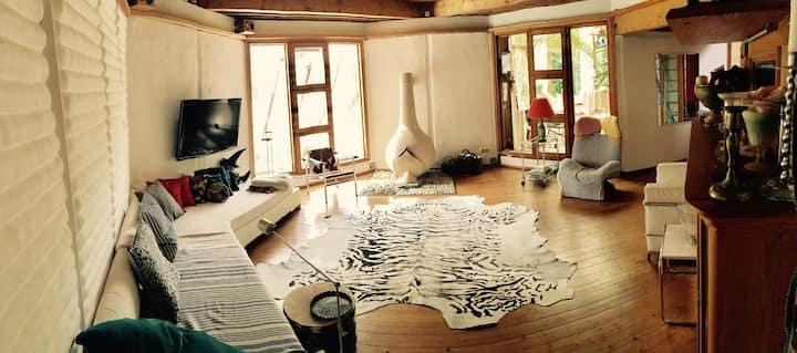 Cosy interesting loam house, whole house