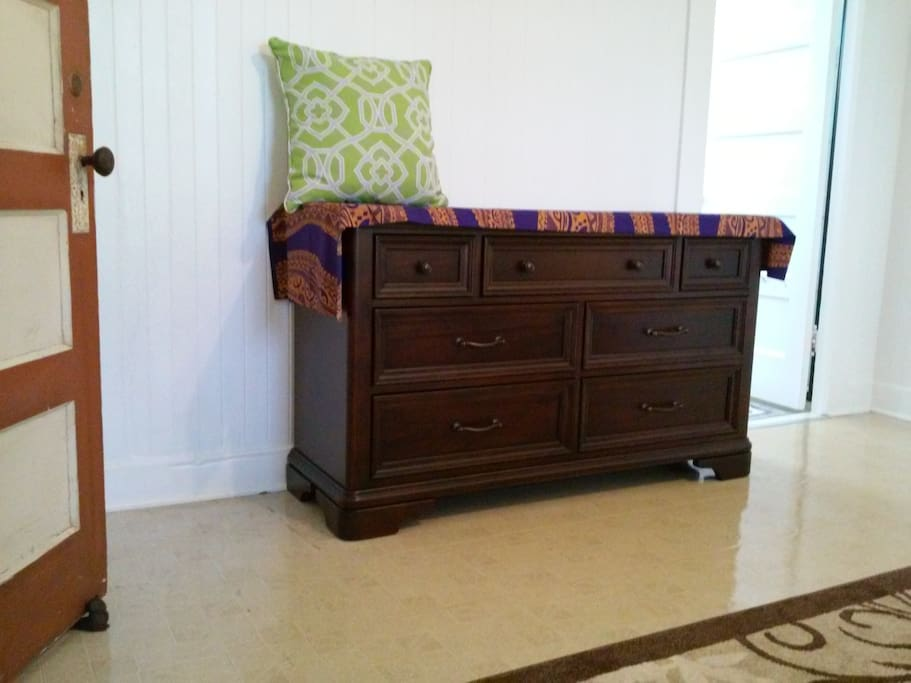 Dresser in private guest bedroom