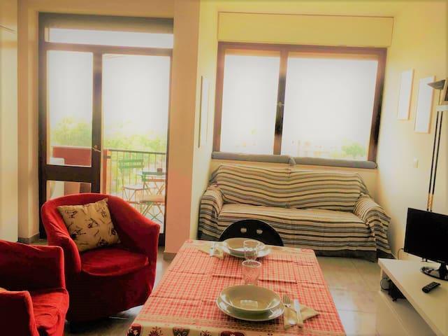 Living con divano letto matrimoniale chiuso ;)
