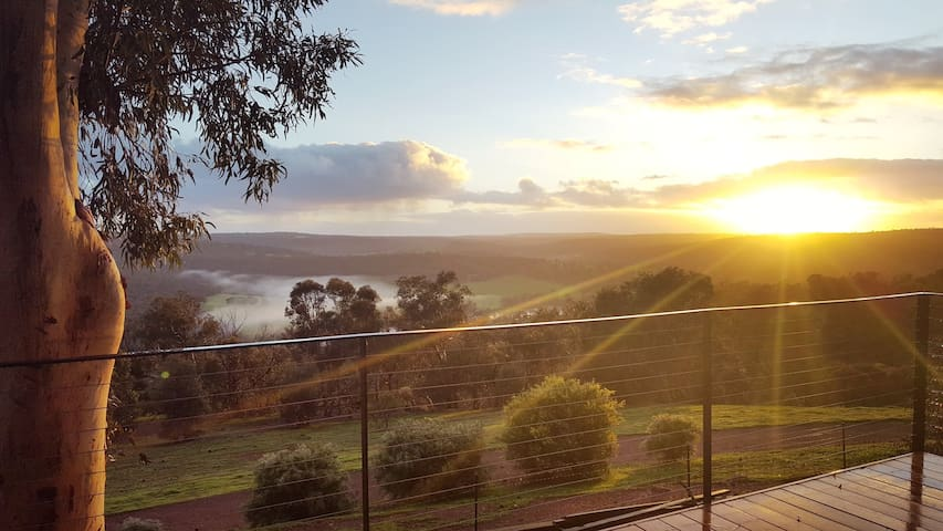 Enjoy mesmerising views over the Chittering Valley, Sunrise, Sunset and of course the night sky.