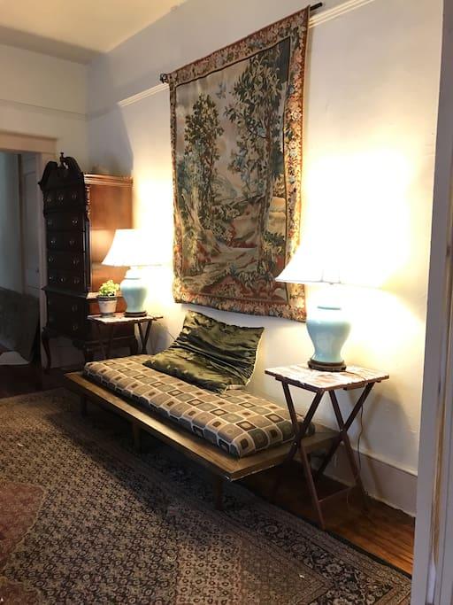Master bedroom settee