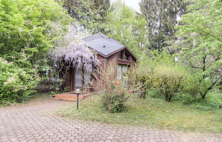 Joli chalet avec piscines et sauna