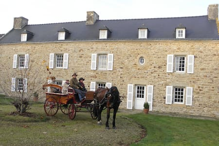 "Les chambres du manoir de Kerhel ""Brocéliande"" - Locoal-Mendon - Pension"