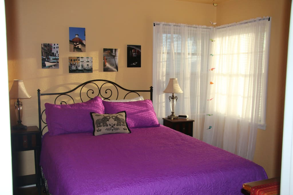 Butterfly Room; Queen Bed, Refrig, TV. Only available as second room for same group.