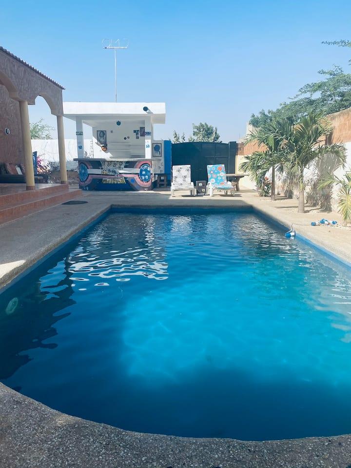GRAND HOUSE POOL & NATURE in Somone Senegal Africa