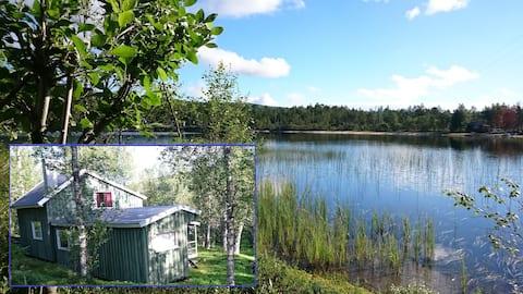 Ingemarstua, una espaciosa cabaña en el lago