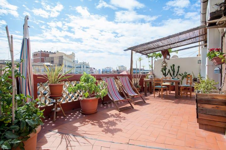 VALENCIAN LIFESTYLE ROOFTOP GARDEN - バレンシア - アパート