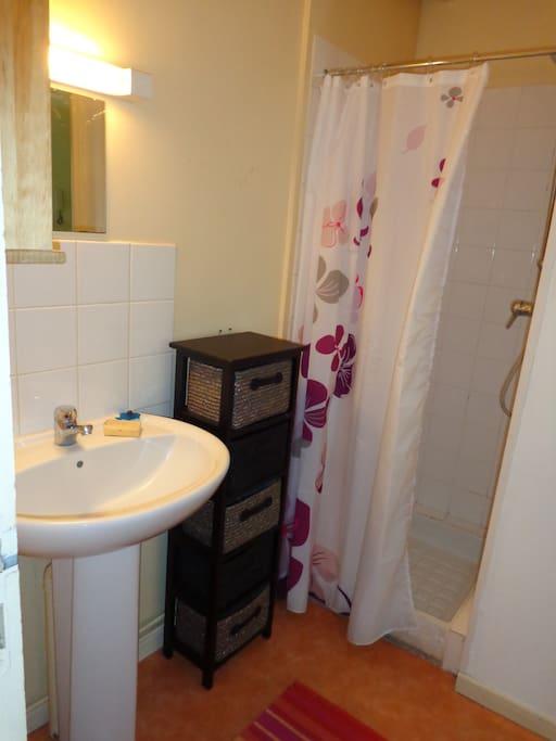 salle de douche et WC séparés