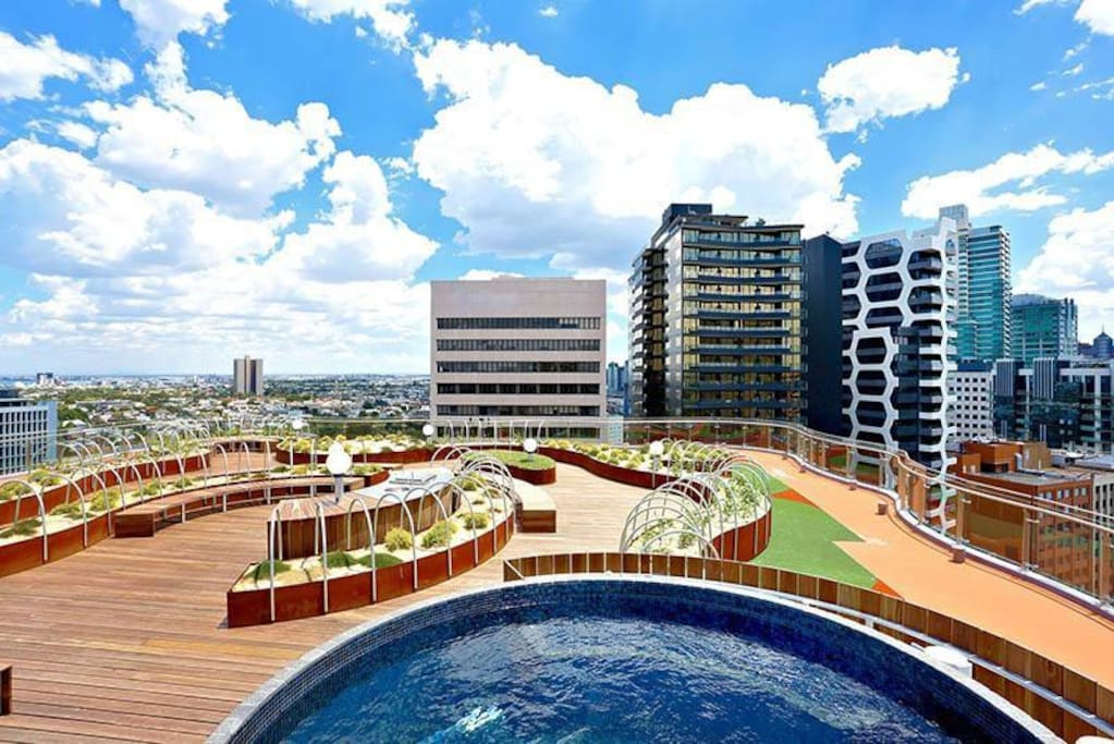 Rooftop and the pool