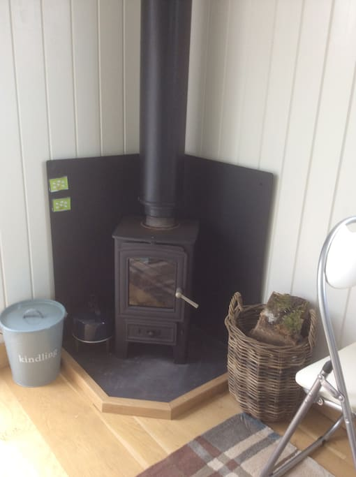 Wood burner for chilly evenings