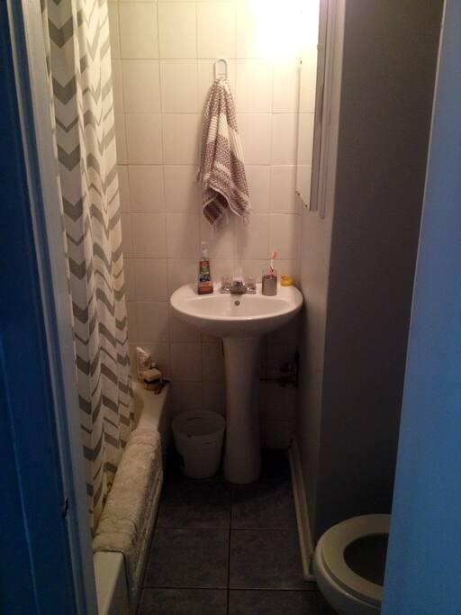 Bathroom (tub and shower) !