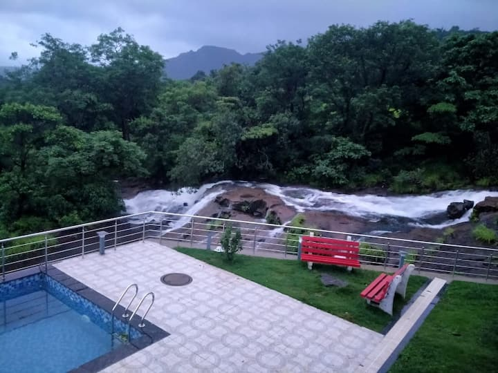 4 BHK AC Bungalow Waterfall Touch Private Pool