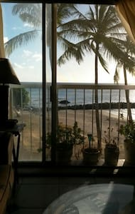 Oceanfront condo on private beach. - Waianae