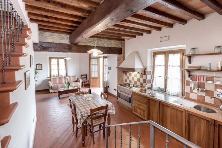Apartment Villa Chianti Pool WiFi Air Cond. (G) - Bucine - Casa