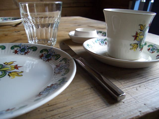 Some of the tableware is antique