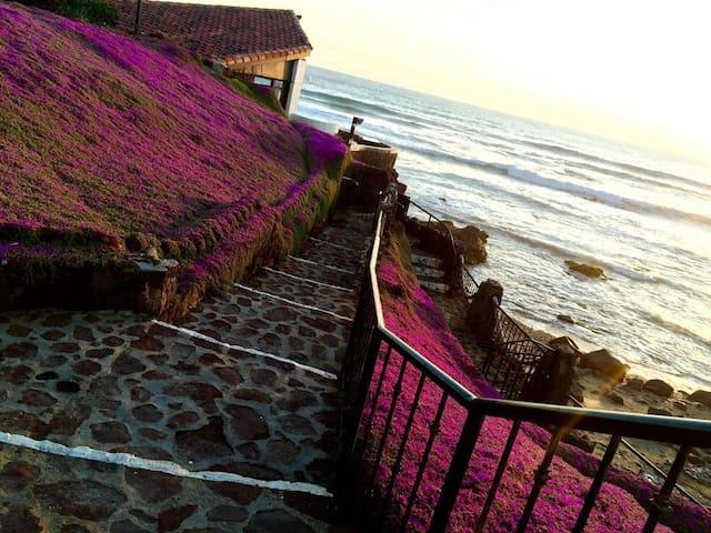 La Paloma Rosarito Beach House Right On The Beach!