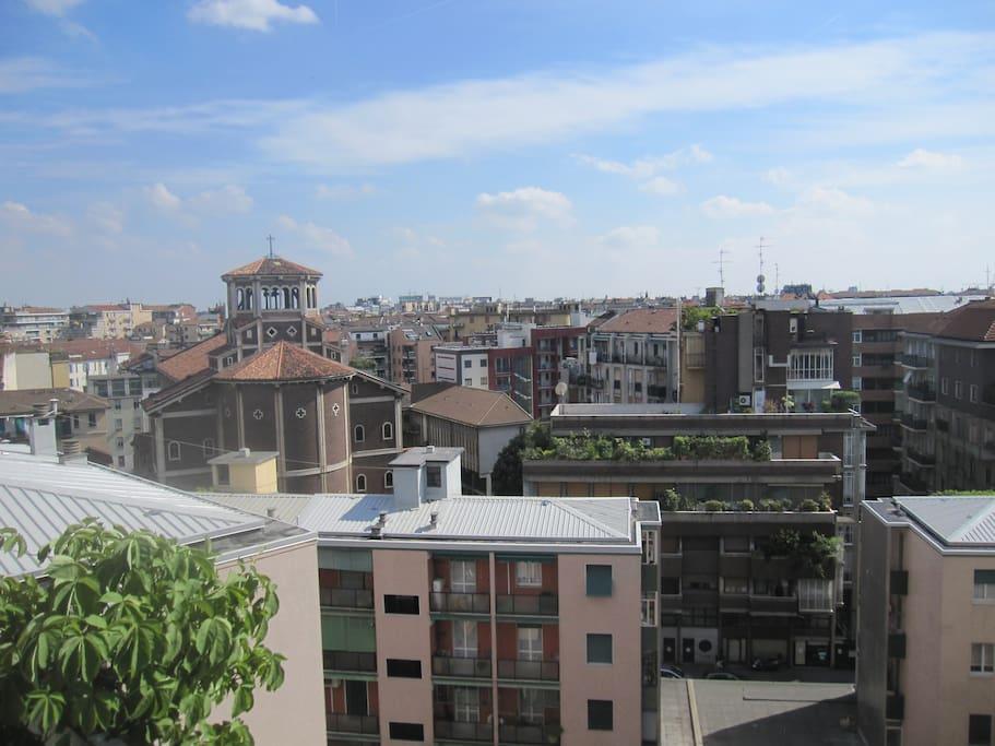 Panorama from balcony