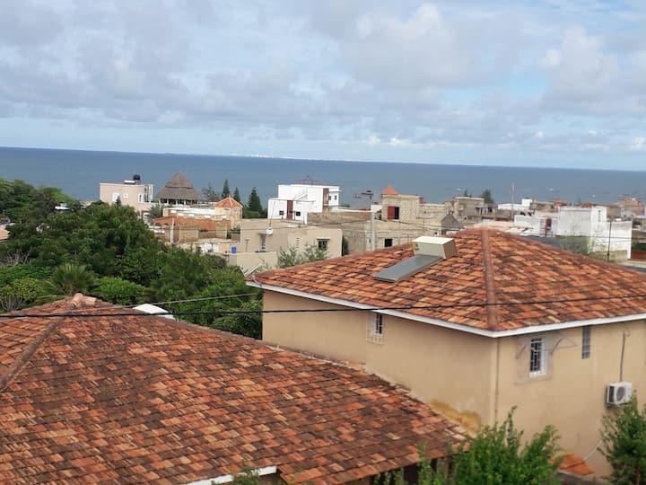 Residence marie France Mendy vue sur la terasse
