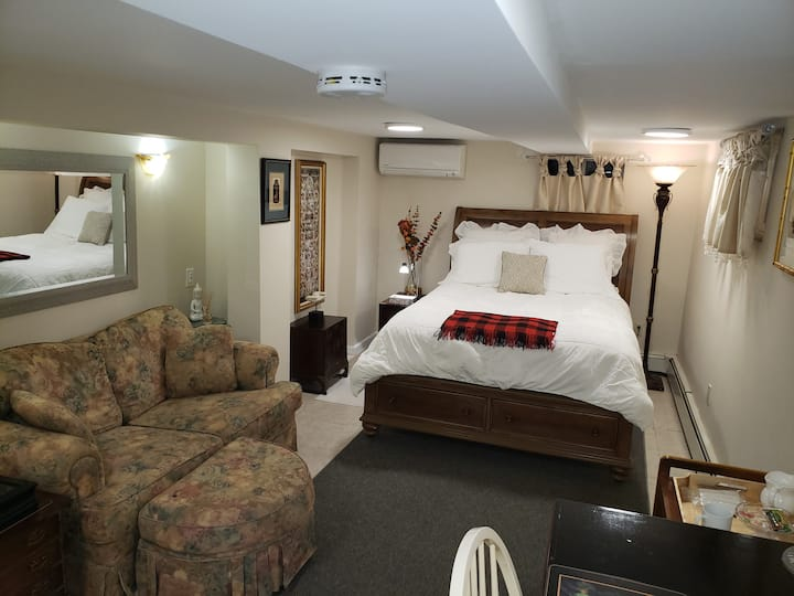 Spacious Suite+office w/priv Bath in S. Huntington