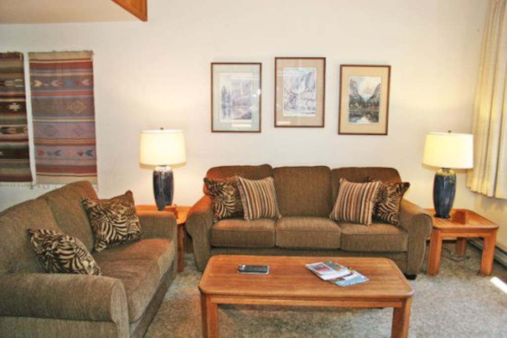 Mammoth Rental Woodlands 30 - Living Room does not have a sofa bed