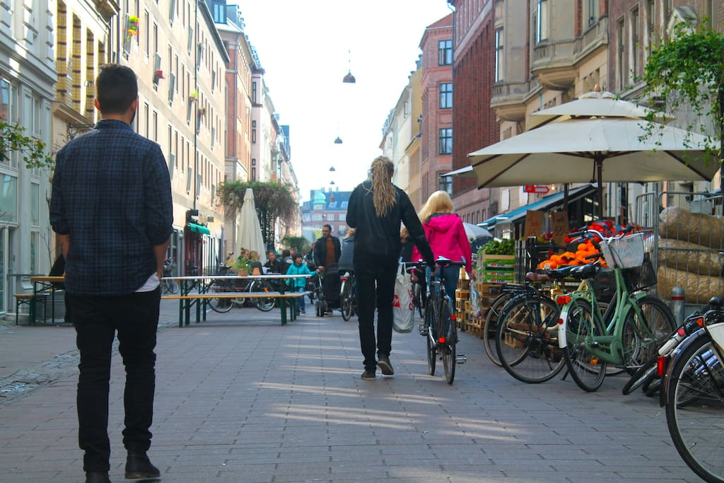 Blågaardsgade. A lovely street near the apartment.