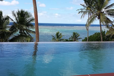 Luxury oceanfront home with pool - Savusavu
