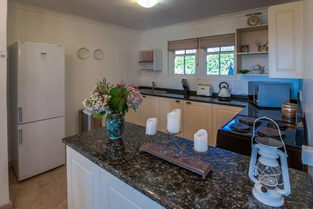 Kitchen of Sunset Cottage