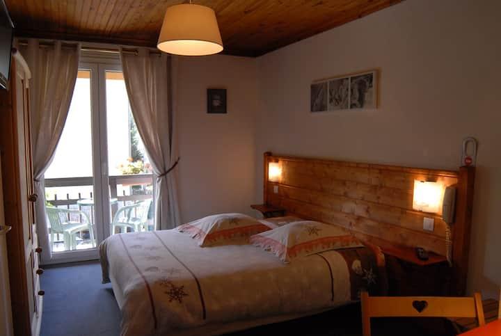 chambre double avec balcon