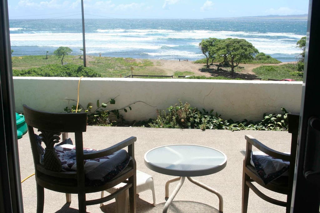 Sit on the porch and watch surfers and whales and cruise ships.  Or go walk on the beach or to the golf course just down the road.