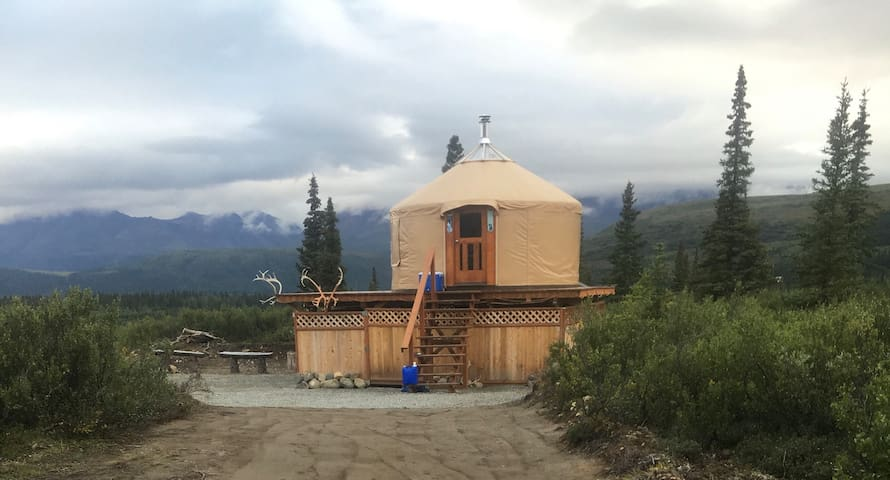 """Experience Alaska"" Yurt Rental #2 Open Year-Round"