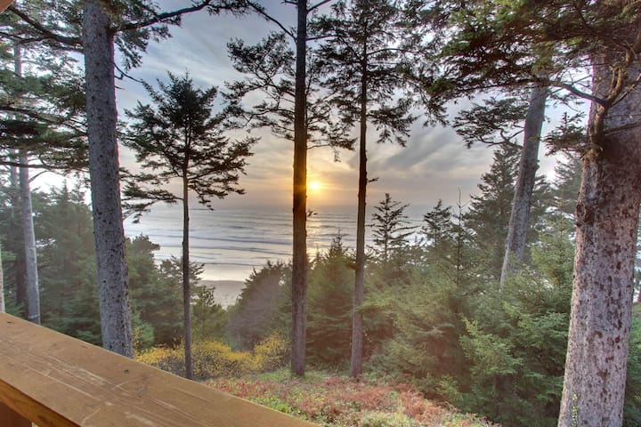 Oceanfront home w/ amazing views - walk right to the beach!