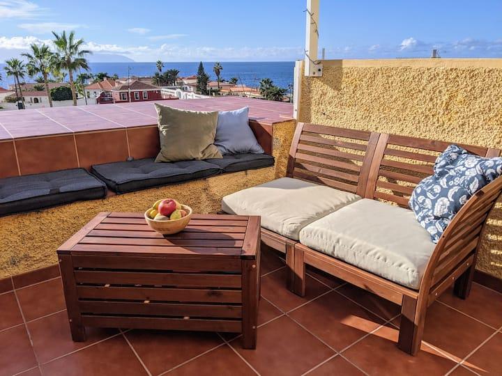Ocean view apartment at Playa la Arena