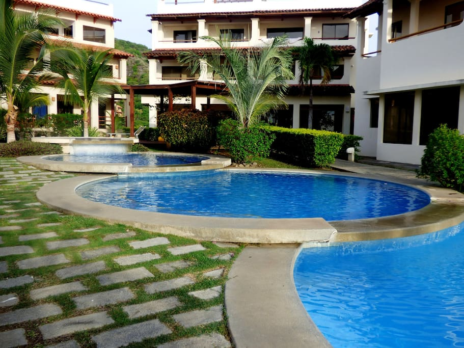 Swimming pools, there are 5 different around the complex.
