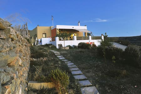 House with panoramic view in Syros - Agros