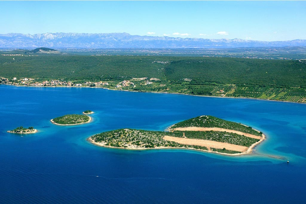You have a unique view on this heart shape Island.