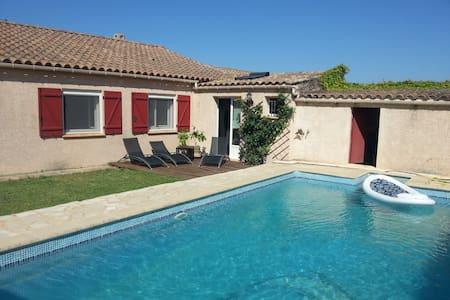 Villa calme avec piscine chauffée - Bizanet - Casa